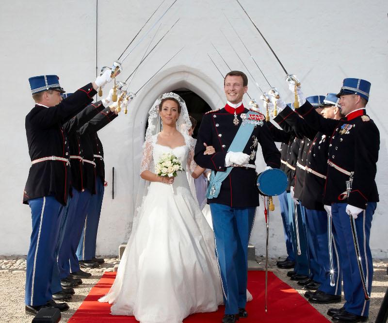 Ο γάμος του πρίγκιπα Γιοακίμ με την Μαρί. Φωτογραφία: AP