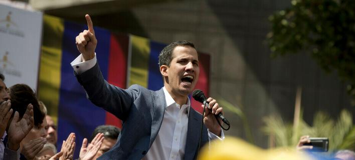 Ο πρόεδρος της εθνοσυνέλευσης της Βενεζουέλας, Χουάν Γκουαϊδό (Φωτογραφία: ΑΡ/Fernando Llano)