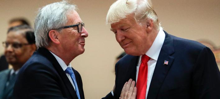 Γιούνκερ-Τραμπ/Φωτογραφία: AP