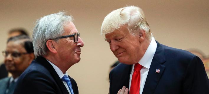 Από συνάντηση Γιούνκερ- Τραμπ στο πλαίσιο της συνόδου G20 στο Αμβούργο το 2017-Φωτογραφία:ΑΡ/Markus Schreiber