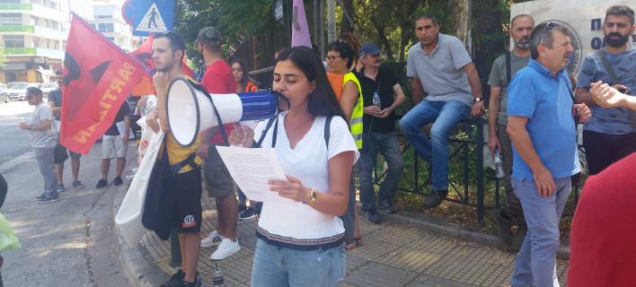 Διαμαρτυρία Τούρκων έξω από το υπουργείο Δικαιοσύνης -Για να μην εκδοθεί ο ακτιβιστής Καγιά