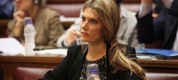 Η Εύα Καϊλή, σε παλαιότερο στιγμιότυπο στη Βουλή / Φωτογραφία: EUROKINISSI