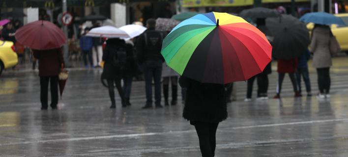 Βροχή στο κέντρο της Αθήνας (Φωτογραφία: intimenews/ΛΙΑΚΟΣ ΓΙΑΝΝΗΣ)