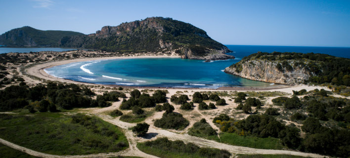 Η παραλία της Βοιδοκοιλιάς (Φωτογραφία: ΑΝΤΩΝΗΣ ΝΙΚΟΛΟΠΟΥΛΟΣ/EUROKINISSI)