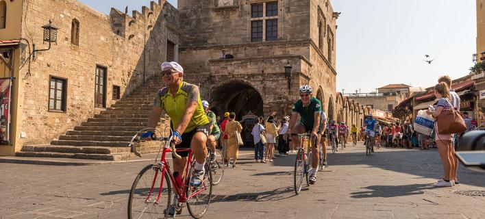 Ποδηλατικός Γύρος στη Ρόδο/ Φωτογραφία: ΑΠΕ ΜΠΕ- ΔΑΜΙΑΝΙΔΗΣ ΛΕΥΤΕΡΗΣ