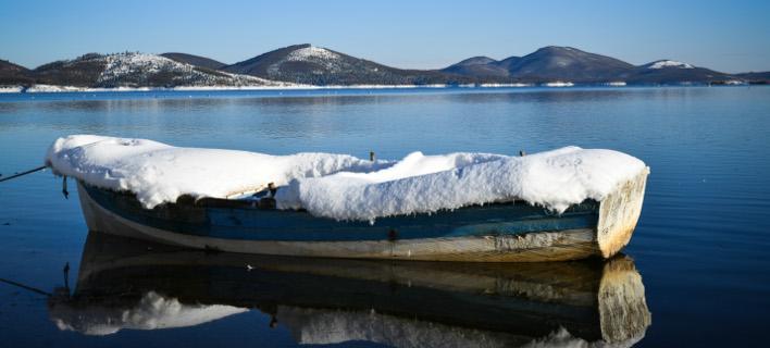 Χιόνια στη λίμνη Πλαστήρα/ Φωτογραφία: EUROKINISSI- ΕΥΡΙΠΙΔΗΣ ΠΑΠΟΥΤΣΗΣ