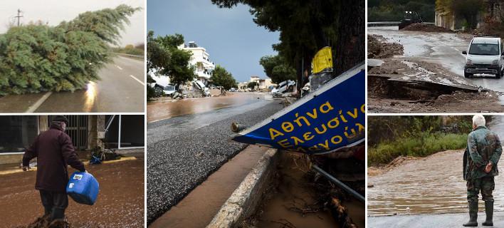 Θεομηνία σε όλη την Ελλάδα -Καταιγίδες, πλημμύρες και καταστροφές από την Πέλλα έως την Αττική και την Αργολίδα
