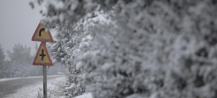 Χιόνι έφερε η Ωκεανίς /Φωτογραφία: Intime news
