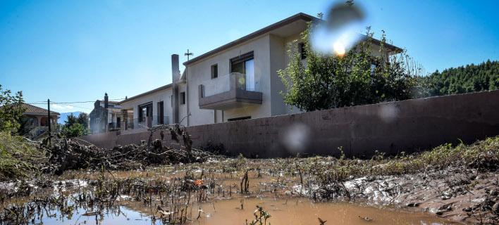 Εικόνα καταστροφής στο Μαντούδι Εύβοιας/Φωτογραφία: Eurokinissi