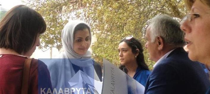 Στα Καλάβρυτα η αδελφή του εμίρη του Κατάρ -Βόλτα με τον οδοντωτό [εικόνες]