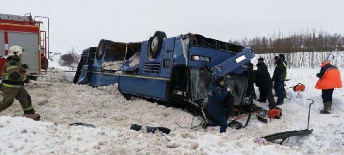 Ρωσία: Τούμπαρε λεωφορείο με παιδιά -Επτά νεκροί [εικόνες]