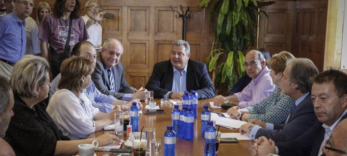 Η συνεδρίαση της ΚΟ των ΑΝΕΛ- φωτογραφία eurokinissi