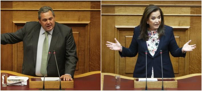 Αγρια κόντρα Μπακογιάννη-Καμμένου στη Βουλή -«Είστε τσάμπα μάγκας»