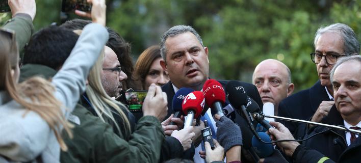 Ο επικεφαλής των ΑΝΕΛ, Πάνος Καμμένος (Φωτογραφία: ΑΡ/Yorgos Karahalis)
