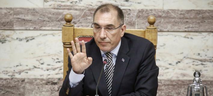 Ο Δημήτρης Καμμένος στο προεδρείο της Βουλής- Eurokinissi/ΚΟΝΤΑΡΙΝΗΣ ΓΙΩΡΓΟΣ