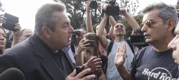 Λεκτική επίθεση Καμμένου σε πληγέντα / Φωτογραφία: Eurokinissi/ΠΑΝΑΓΟΠΟΥΛΟΣ ΓΙΑΝΝΗΣ