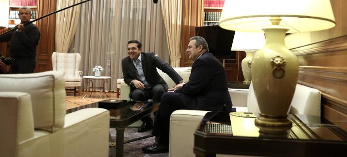 """Η """"λύση"""" του Σκοπιανού απομακρύνεται, Τσίπρας και Καμμένος ξανασυναντιούνται... /Φωτογραφία: Intime News"""