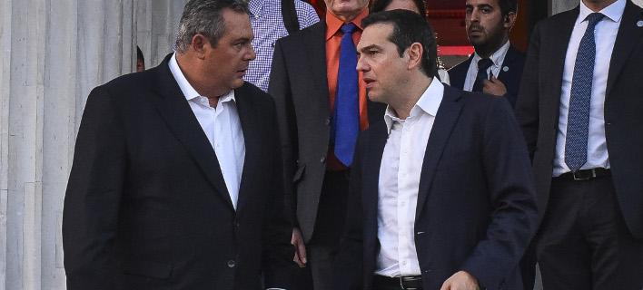 Ο Πάνος Καμμένος και ο Αλέξης Τσίπρας / Φωτογραφία: EUROKINISSI/ΤΑΤΙΑΝΑ ΜΠΟΛΑΡΗ