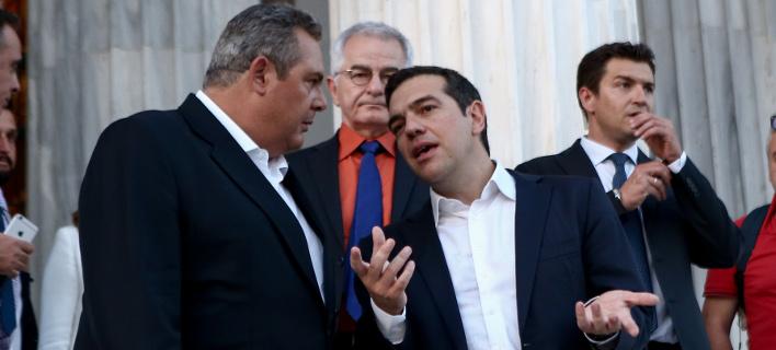Ο Πάνος Καμμένος με τον Αλέξη Τσίπρα -Φωτογραφία αρχείου: Intimenews/ΤΖΑΜΑΡΟΣ ΠΑΝΑΓΙΩΤΗΣ