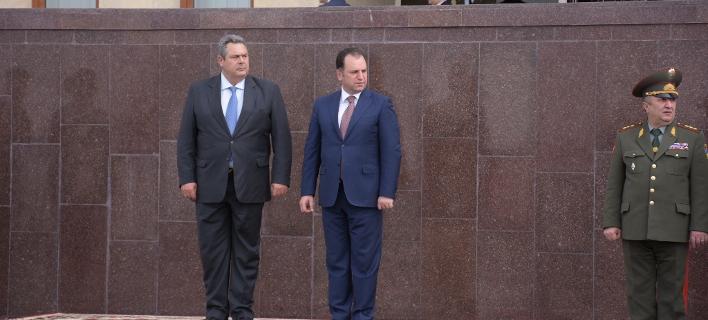 Επίσκεψη Καμμένου στην Αρμενία- Συναντήθηκε με τον πρόεδρο της χώρας και τον ΥΠΕΞ