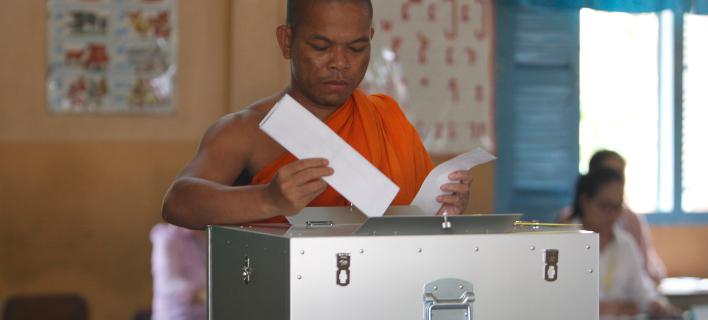 Εκλογές στην Καμπότζη (Φωτογραφία: AP Photo/Heng Sinith)