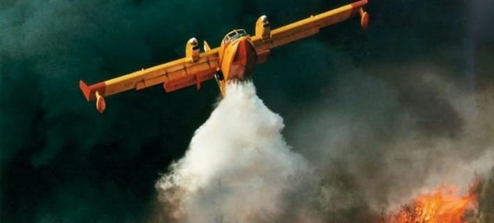 Εκτακτο: Ατύχημα με Καναντέρ που επιχειρούσε στη φωτιά στη Λακωνία [εικόνα]