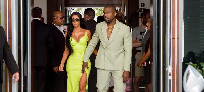 O Kanye West με τη σύζυγο του Kim Kardashian / Φωτογραφία: Splash News