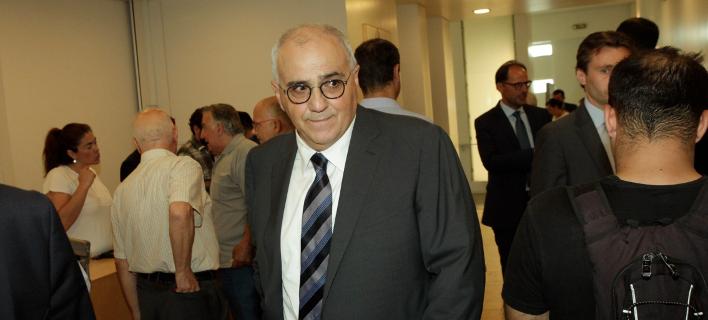 Ο πρόεδρος της Eλληνικής Ενωσης Τραπεζών και πρόεδρος της Eurobank, Νικόλαος Καραμούζης/Φωτογραφία: Eurokinissi