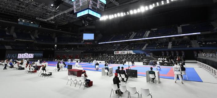 Στιγμιότυπο από το Παγκόσμιο πρωτάθλημα καράτε/ Φωτογραφία: ΑΠΕ/ EPA/VICTOR LERENA