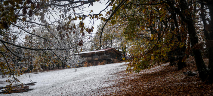 Χιονισμένη η λίμνη Πλαστήρα (Φωτογραφία: EUROKINISSI/ ΕΥΡΙΠΙΔΗΣ ΠΑΠΟΥΤΣΗΣ)