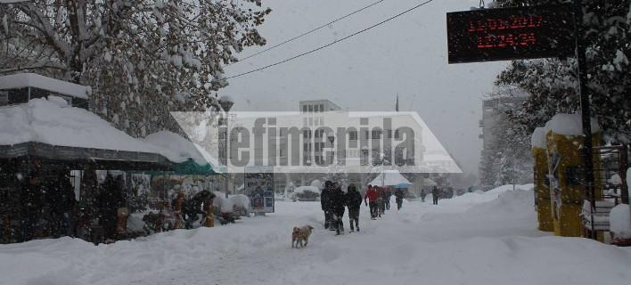 «Βόμβα» χιονιού έπεσε από τη Λάρισα ως την Ξάνθη -Μισό μέτρο χιόνι στα Ιωάννινα [εικόνες]
