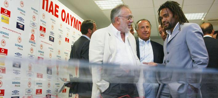 Σωκράτης Κόκκαλης και Κριστιάν Καρεμπέ /Φωτογραφία: EUROKINISSI