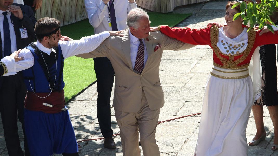 Ο πρίγκιπας Κάρολος σε ρόλο πρέσβη τουρισμού της Ελλάδας και της φιλοξενίας της -Φωτογραφία: EUROKINISSI