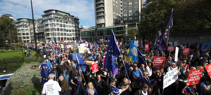 διαδήλωση κατά του Brexit/Φωτογραφία: AP