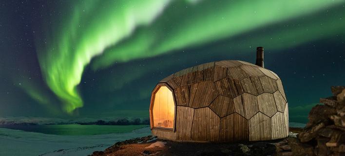 Το νορβηγικό καταφύγιο στην άκρη του βουνού -Με θέα που καθηλώνει (Φωτογραφία: spinnark)