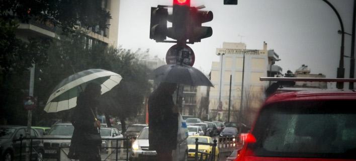 Βροχές και καταιγίδες σήμερα (Φωτογραφία: EUROKINISSI/ΓΙΩΡΓΟΣ ΚΟΝΤΑΡΙΝΗΣ)