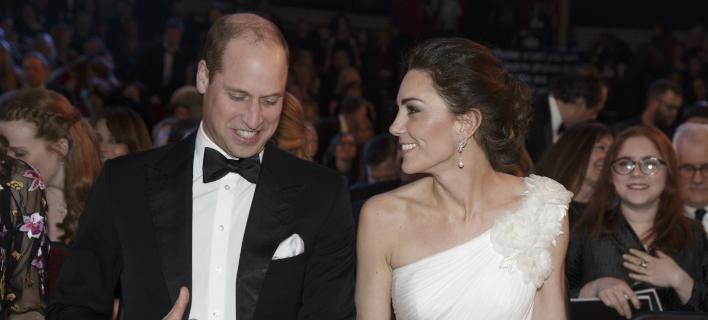 Η Κέιτ Μίντλετον και ο πρίγκιπας Γουίλιαμ στα BAFTA /Φωτογραφία: AP