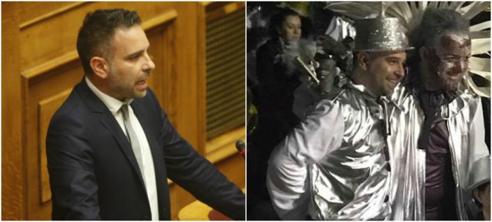 Από τα έδρανα της Βουλής... καρναβαλιστής -Ο βουλευτής που παρέλασε στον Τύρναβο [εικόνες]
