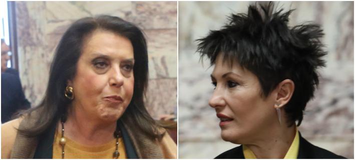 Αγρια κόντρα μεταξύ της Αννέτας Καββαδία (δεξιά) και Θεδ. Μεγαλοοικονόμου (αριστερά) στην ΚΟ ΣΥΡΙΖΑ -Eurokinissi