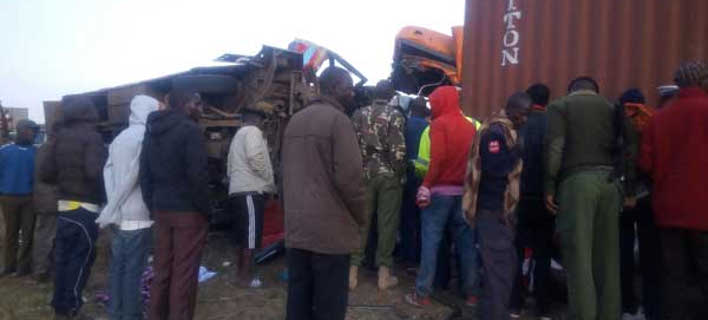 Μετωπική σύγκρουση λεωφορείου με φορτηγό (Φωτογραφία: Daily Nation)