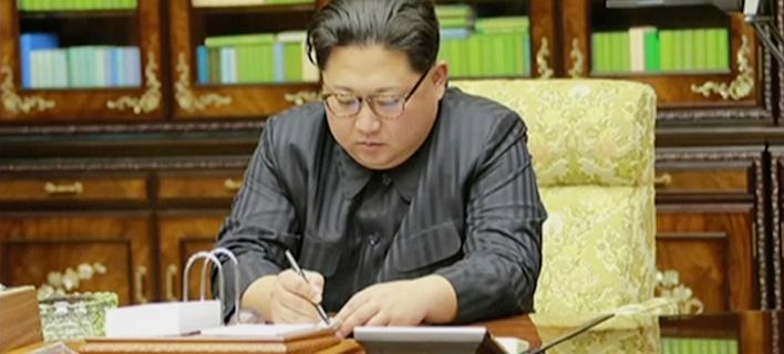 O ηγέτης της Βόρειας Κορέας, Κιμ Γιονγκ Ουν (Φωτογραφία: ΑΡ)