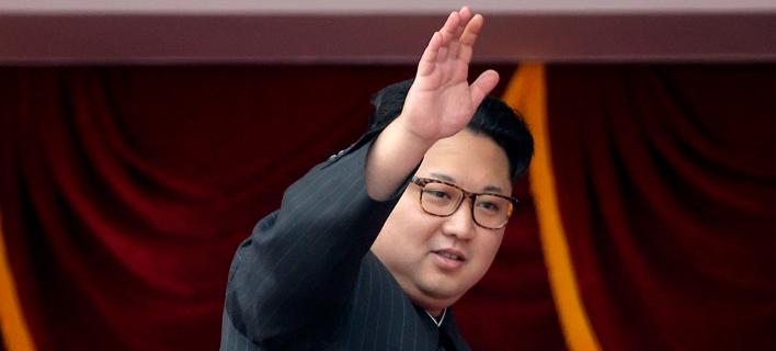 Ο ηγέτης της Βόρειας ΚΟρέας, Κιμ Γιονγκ Ουν. Φωτογραφία: AP