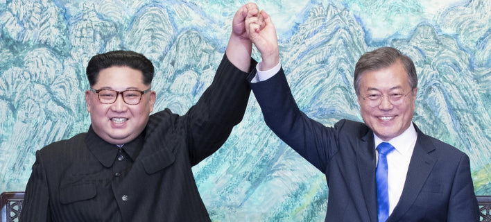 Oι ηγέτες Βόρειας και Νότιας Κορέας ετοιμάζονται για το τρίτο φετινό τους τετ-α-τετ (Φωτογραφία: ΑΡ)
