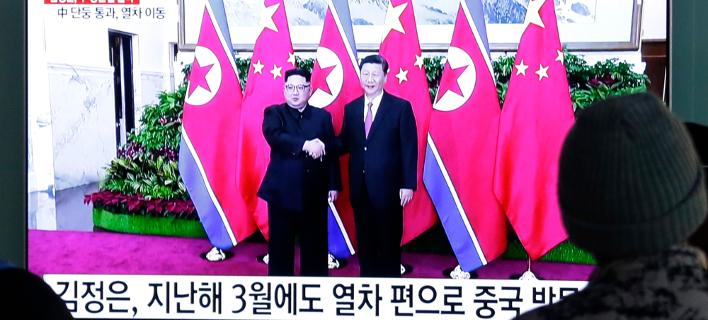 Ο Κιμ θα έχει τέταρτη συνάντηση κορυφής με τον Κινέζο πρόεδρο Σι Τζινπίνγκ (Φωτογραφία αρχείου: AP/Ahn Young-joon)