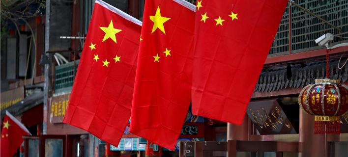 Σημαίες της Κίνας/Φωτογραφία: Eurokinissi