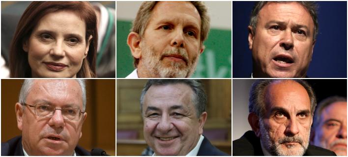 Επάνω: Κ. Μπατζελή, Π. Γερουλάνος, Γ. Σγουρός -Κάτω: Σ. Μαλέλης, Στ. Αρναουτάκης, Απ. Κατσιφάρας