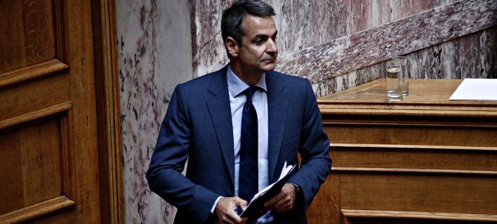 Ο Κυριάκος Μητσοτάκης στη Βουλή /Φωτογραφία: Alexandros Michailidis / SOOC