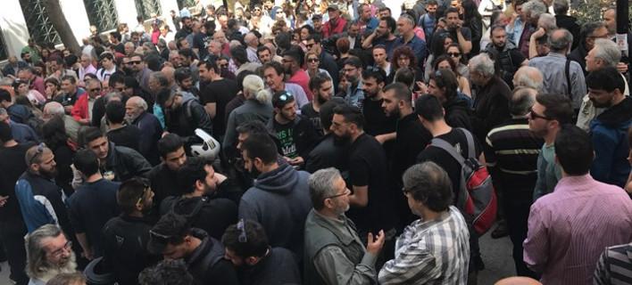 Διαμαρτυρία του ΚΚΕ για τους συλληφθέντες στα επεισόδια στο άγαλμα Τρούμαν [εικόνες]