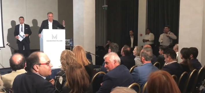 Eνταση με Καλαφάτη σε εκδήλωση των δικηγόρων της Θεσσαλονίκης για τη Μακεδονία