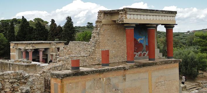 Το ανάκτορο της Κνωσού -Φωτογραφία: wikimedia